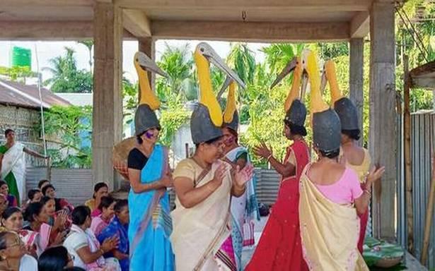 Baby Health in Winter In Assam, adjutant storks get a baby shower