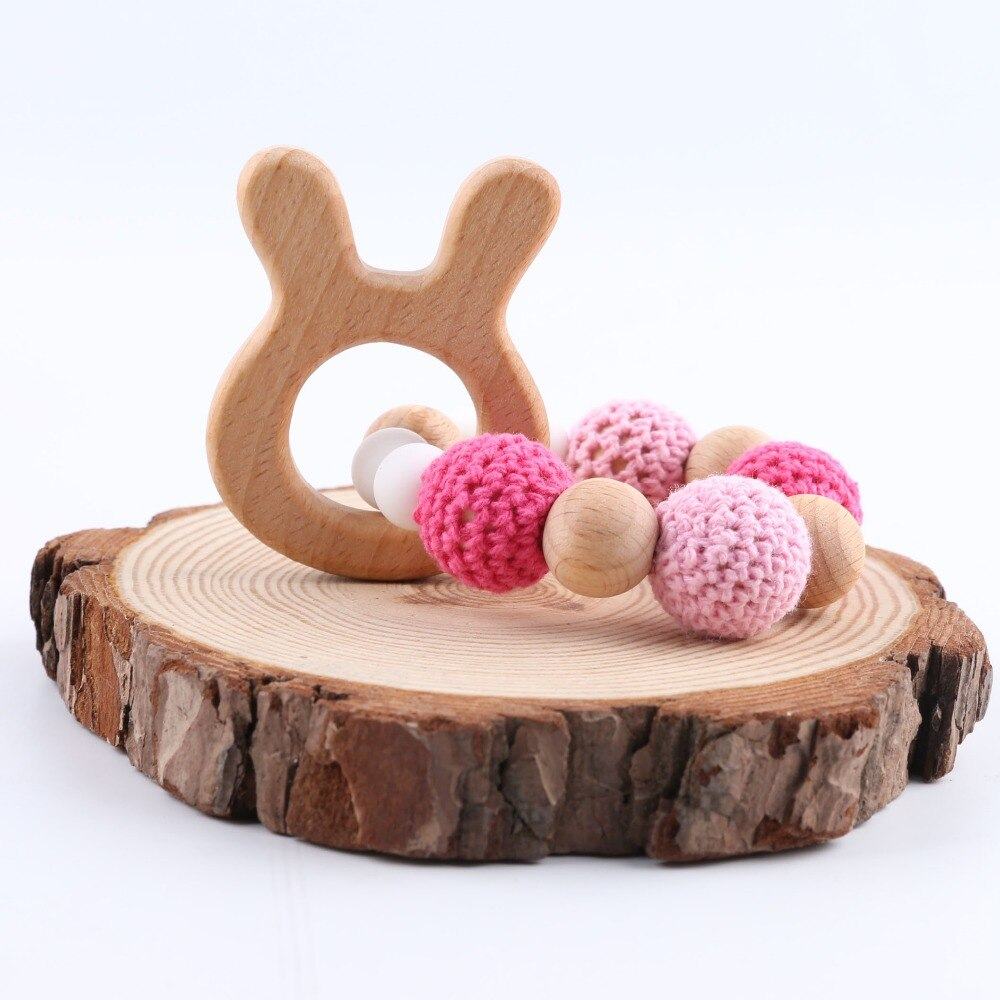 Babies' Wooden Bracelet Teether Toy