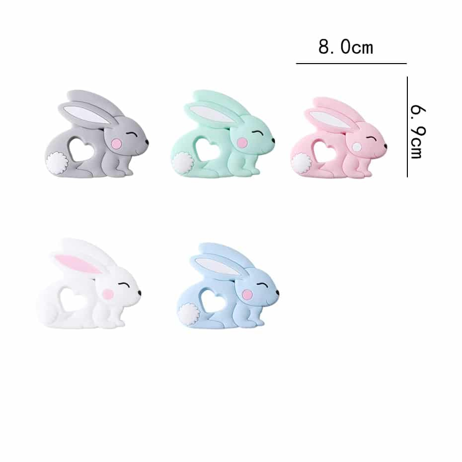 Baby Rabbit Shaped Silicone Toy