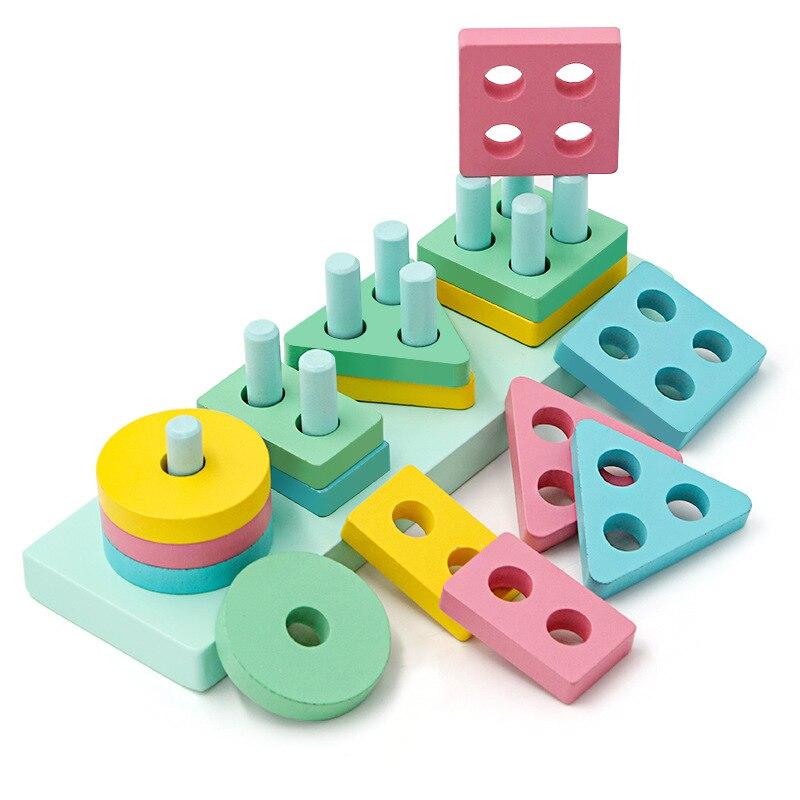 Baby Wooden Educational Blocks