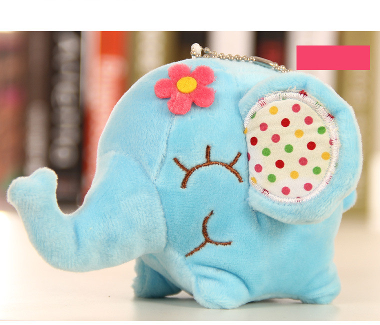 Kawaii Bright Plush Elephant Toy