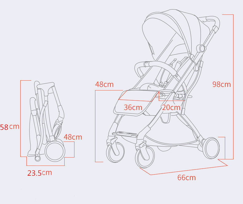 Baby's Light Plain Stroller