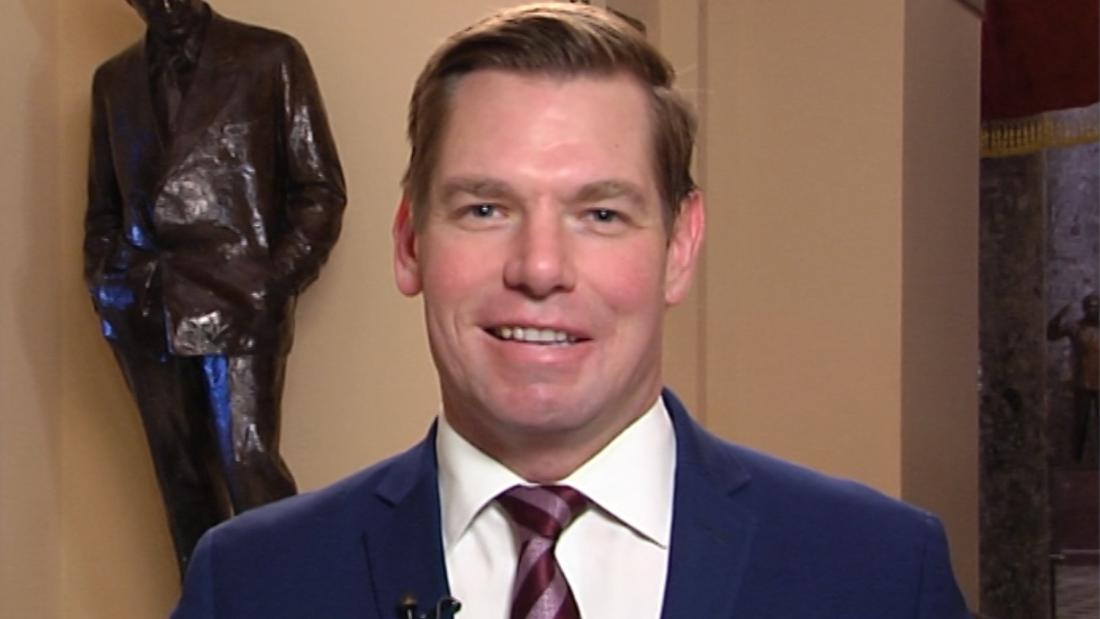 Healthy fod for babies Swalwell jokes about Fox News interview after Trump's tweet