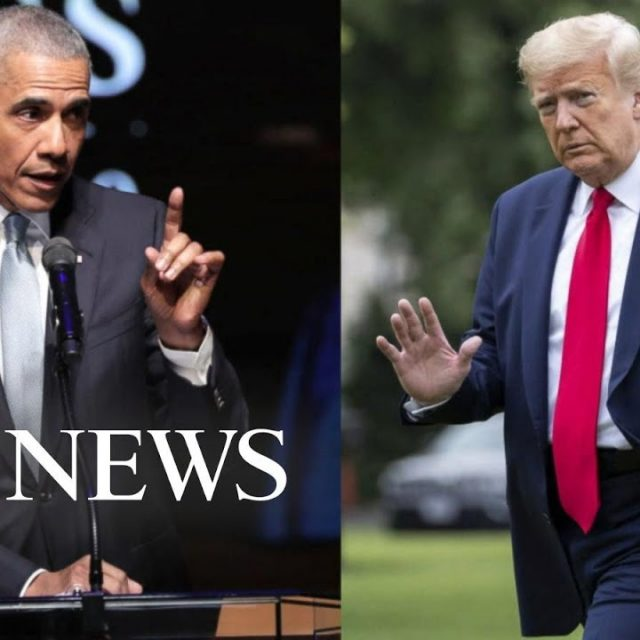 Healthy fod for babies Trump fires back at Obama after implied dig in commencement address l ABC News – ABC News