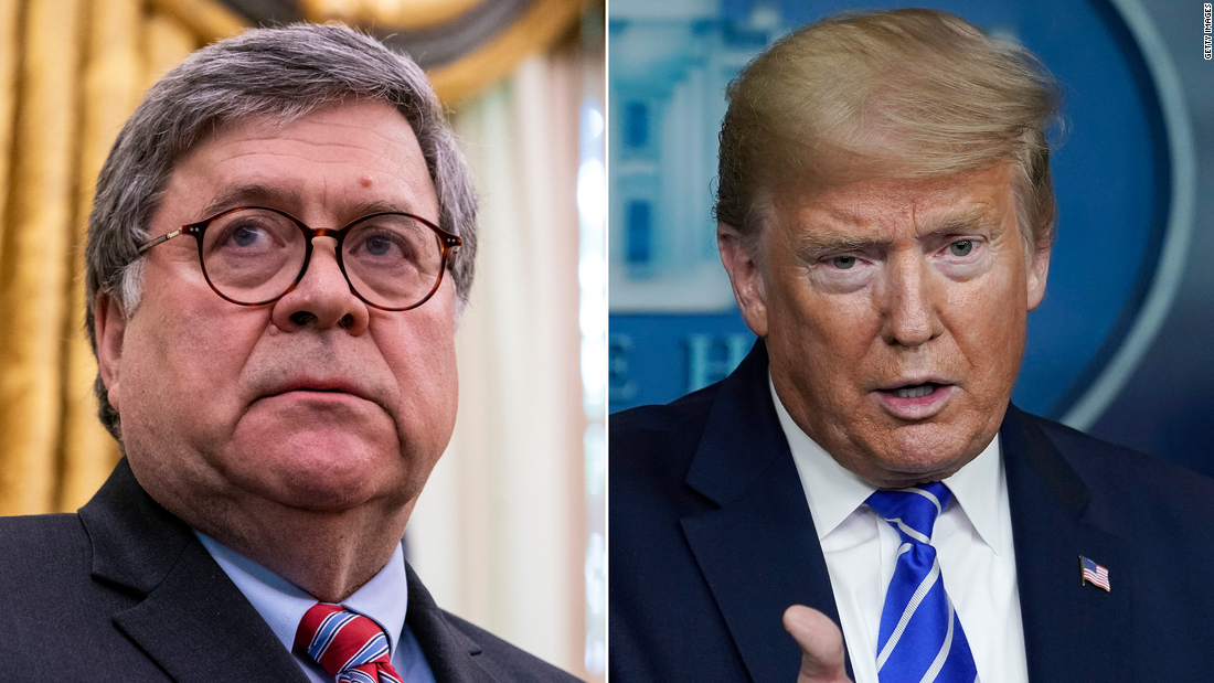 Healthy fod for babies Bill Barr contradicts Trump on his move to the WH bunker