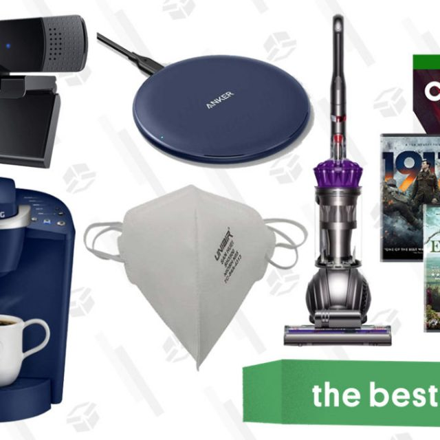 Baby Health in Winter Wednesday's Best Deals: Aukey 1080p Webcam, Control for Xbox One, Keurig K-Classic Coffee Maker, Dyson Animal Upright Vacuum, N95 Masks, and More